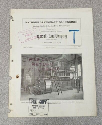 1923 Rathbun Stationary Gas Engine Sales Catalog