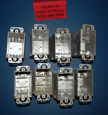 Lot Of 8 Raco 3-123.5 Deep Electrical Switch Box With Ears