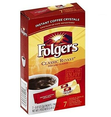 - Folgers Classic Roast Instant Coffee Single Serve Packets 84 Count Fresh Bold