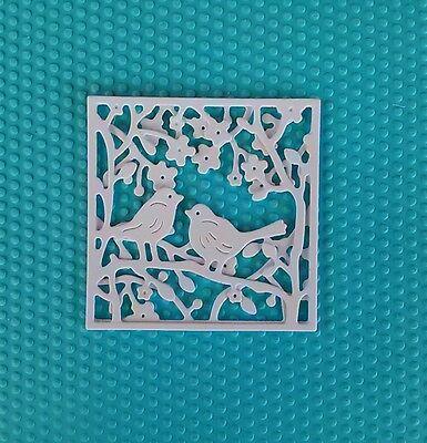 10 x weiß Kartenschmuck Kartenaufleger Stanzteile Scrapbooking Basteln Papier