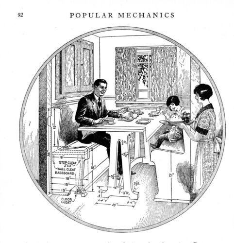 Built In Furniture plans book from 1927 on CD