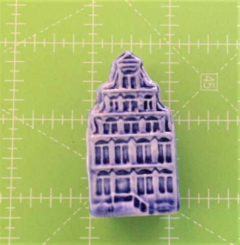 "Vintage Miniature Porcelain Blue House 2"" tall"