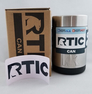 New RTIC Stainless Steel 12oz Can/Bottle Koozie- Free Shipping!!