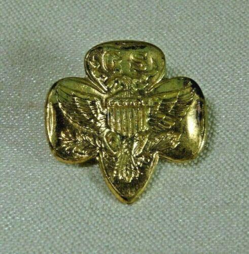 "Vintage Girl Scouts 4 Star ""R"" Eagle Emblem with Pinback"