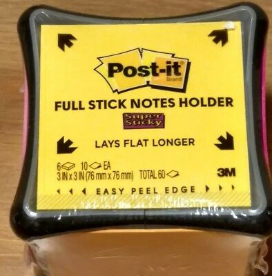 Post-it Super Sticky Full Stick Notes Holder Cube 2x Sticking Power Refillable