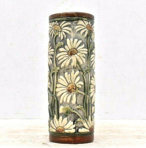 "Weller Pottery Selma Knifewood Daisy Flower Vase VINTAGE 7.5"" tall"