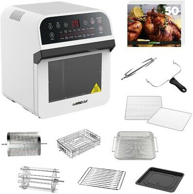 GOWISE USA 12.7 Qt. Electric Air Fryer Oven/Rotisserie w/ 10
