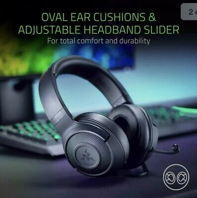 Razer Kraken X Black Over the Ear Headset for PC, PS4