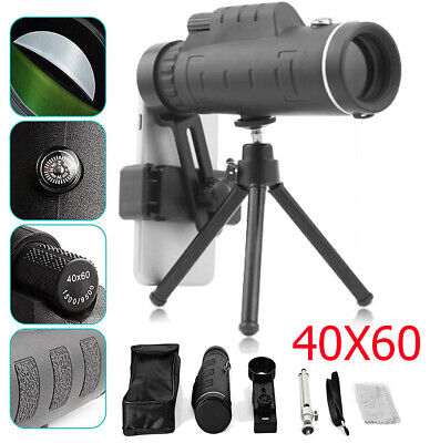 For iPhone 40X Monocular HD Zoom Telescope Telephoto Camera Lens + Phone Holder