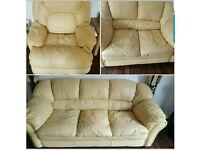3 piece leather sofa's
