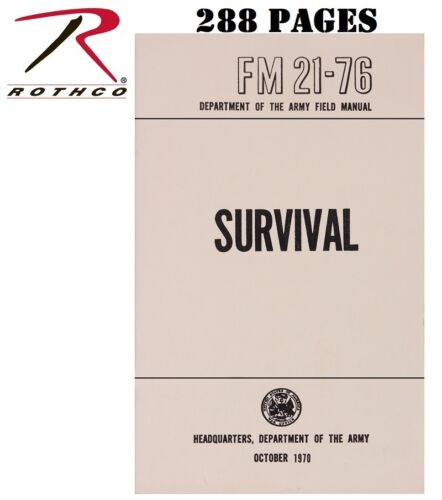 US SURVIVAL FM 21-76 Survive Bug Out Preppers USMC Issued Manual Rothco 1402