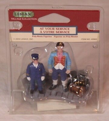Lemax At Your Service 42863 Complete in Package - See Pics - Halloween Your Pic