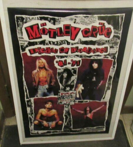 MOTLEY CRUE POSTER NEW 1992 RARE VINTAGE COLLECTIBLE OOP