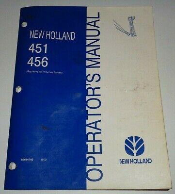 New Holland 451 456 Sickle Mower Operators Maintenance Manual 800 Nh Original