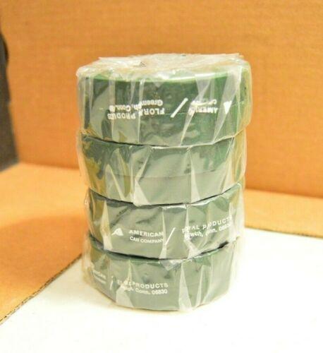 "Floratape Stem Wrap 4 Rolls Green 1/2"" x 30 Yards Each Total 90 Yds New"