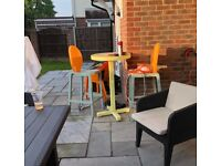 BAR TABLE AND 2 CHAIRS - FROM HEALS - RRP: £800 - TOG BRAND
