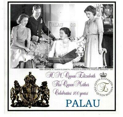 Palau - 1999 - Queen Mother 100 Years - Souvenir Sheet - MNH