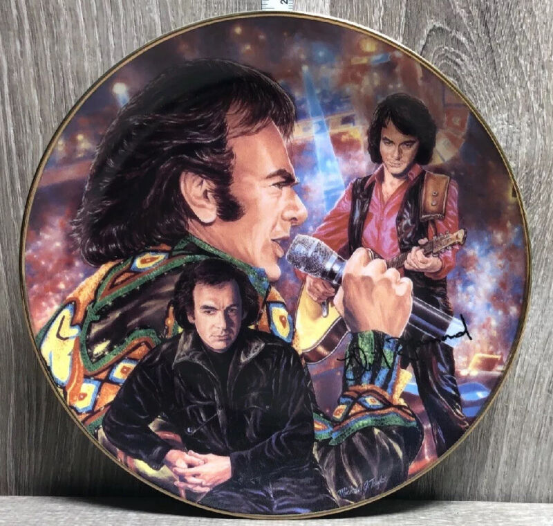Neil Diamond Autographed Limited Edition ARTIST PROOF Gartlan Plate Signed 1014