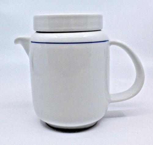 Richard Ginori Porcelain White Blue Trim Coffee Tea Pot Lid Made in Italy 226