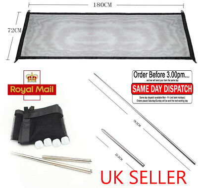 UK SELL✔ Easy Install Magic Mesh Pet Dog Gate Door Barrier Guard Fence Enclosure