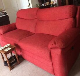 Sofas - 2 x red 3 seater sofas