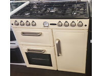 g174 cream leisure 90cm dual fuel cooker comes with warranty can be delivered or collected