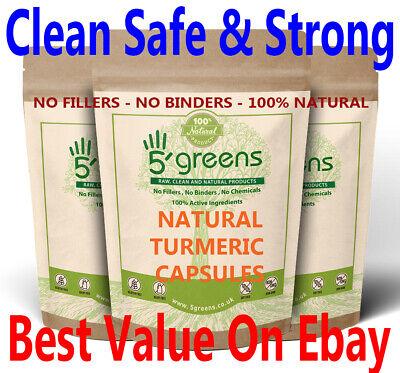 TURMERIC CURCUMIN CAPSULES & BIOPERINE - 13250mg Vegan Capsules Strong Natural