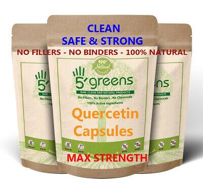Quercetin 400mg Capsules 98% Extract - Strongest Best Value - Vegan Capsules -