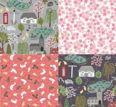 The Village Pond - Lewis & Irene - 100% Cotton Craft Fabric - Fat Quarter/Metre