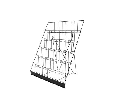 6-tiered Wire Display Rack Tabletops Literature Holder 2.5 Open Shelves