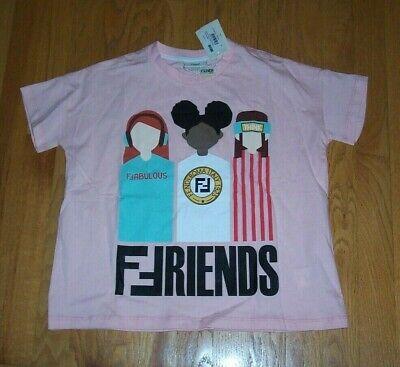 NEW Fendi Kids Friends Oversized Pink Soft Cotton Top T-shirt Girls Size 6 NWT