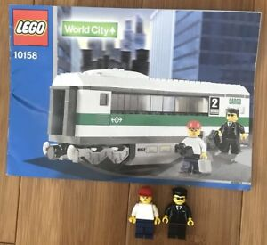LEGO Train World City 10158 High Speed Train Car Instructions And Minifigs