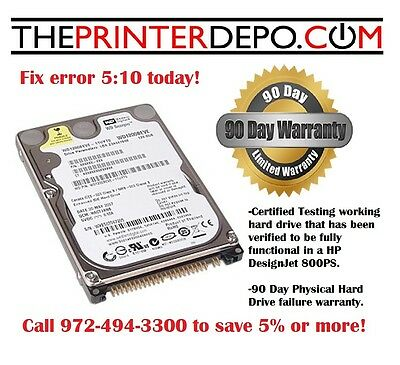 Hp Designjet 800ps Hard Drive For C7779-69272 Ide Wfirmware Formatter Fixer
