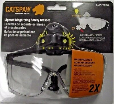 Mayhew Select 45050 Cats Paw Lighted Magnifying Safety Glasses