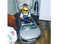 Infant push along Audi car
