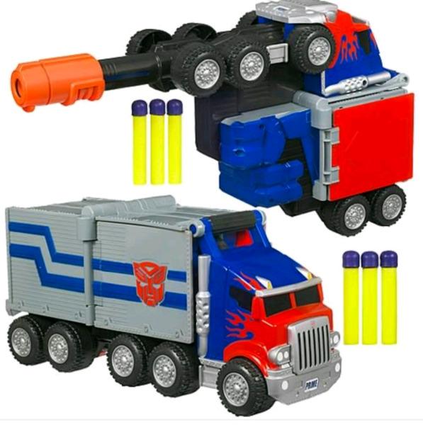 NERF GUN Optimus Prime Transformers battle rig blaster RARE