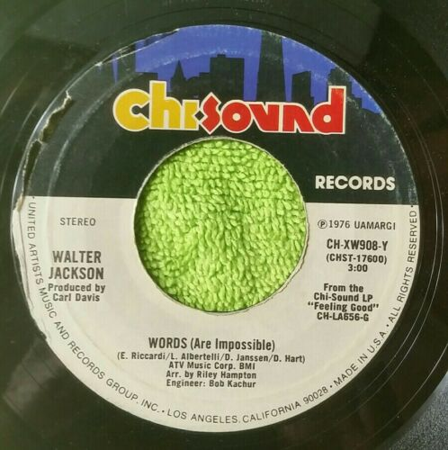 Walter Jackson-CAROLINA SMOOTH SHAG-WORDS ARE IMPOSSIBLE / VG 45 FF  - $2.95