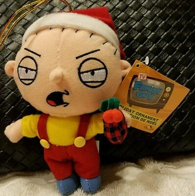 Family Guy STEWIE PLUSH XMAS CHRISTMAS ORNAMENT HOLIDAY  MINT 6