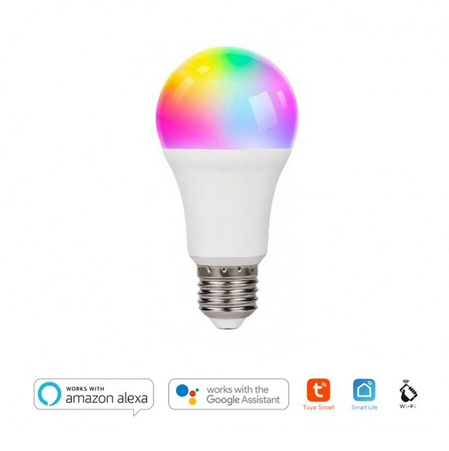 Lampada Led WiFi E27 11W 1050lm RGB+CCT Compatibile con Alexa e Google
