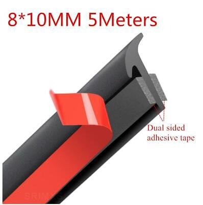 5M Car Side Skirt Headlight Protector Strip Trim Inclined T-shaped Seal Rubber