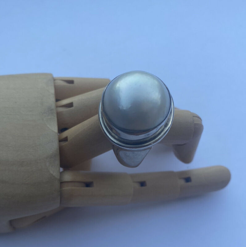 Stephen Dweck Retired 925 Sterling Silver White Pearl Ring Size 6 1/2