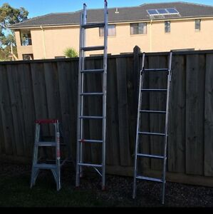 3 ladders for sale ... 1 step ladder and 2 extendable ladders Point Cook Wyndham Area Preview
