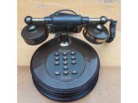 Working Retro 1985 BT British Telecom Rondo Push Button Telephone in Brown