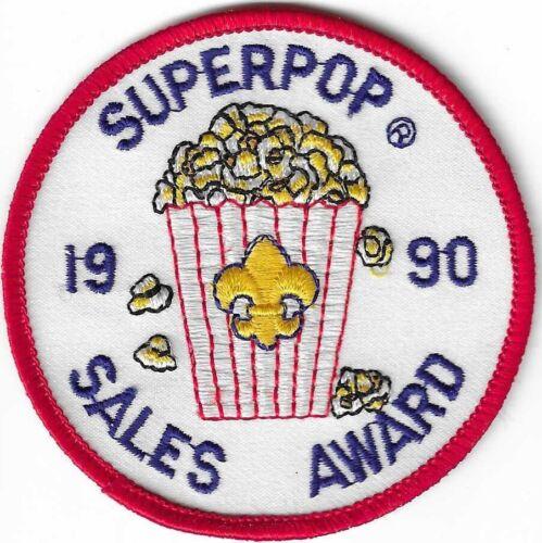 BSA 1990 TRAILS END GOURMET POPCORN SALES AWARD SUPER POP MINT PATCH