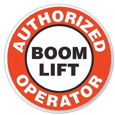 Boom Lift (Authorized Boom Lift Operator Hard Hat Decal Hard Hat Sticker Helmet Safety H15)
