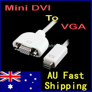 Mini DVI to VGA Adapter Converter Cable for Apple iMac MacBook Mac Mini