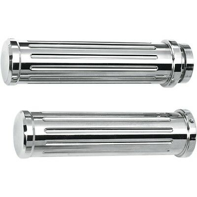 - Grooved Billet Grips PRO-ONE PERF.MFG. Chrome 500560
