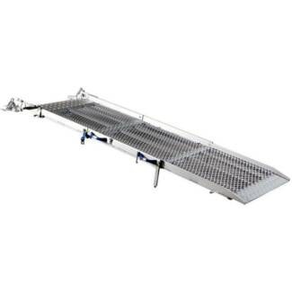 FEAL 2.35m Tri-Fold Aluminium Vehicle Ramp, 400kg Capacity