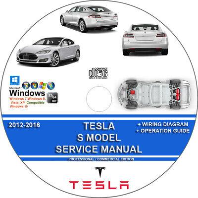 TESLA S Model 2012-2016 Service Repair Manual on CD + Wiring Diagram