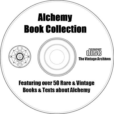 Alchemy Book Collection On Cd   Over 50 Rare   Vintage Books About Alchemy